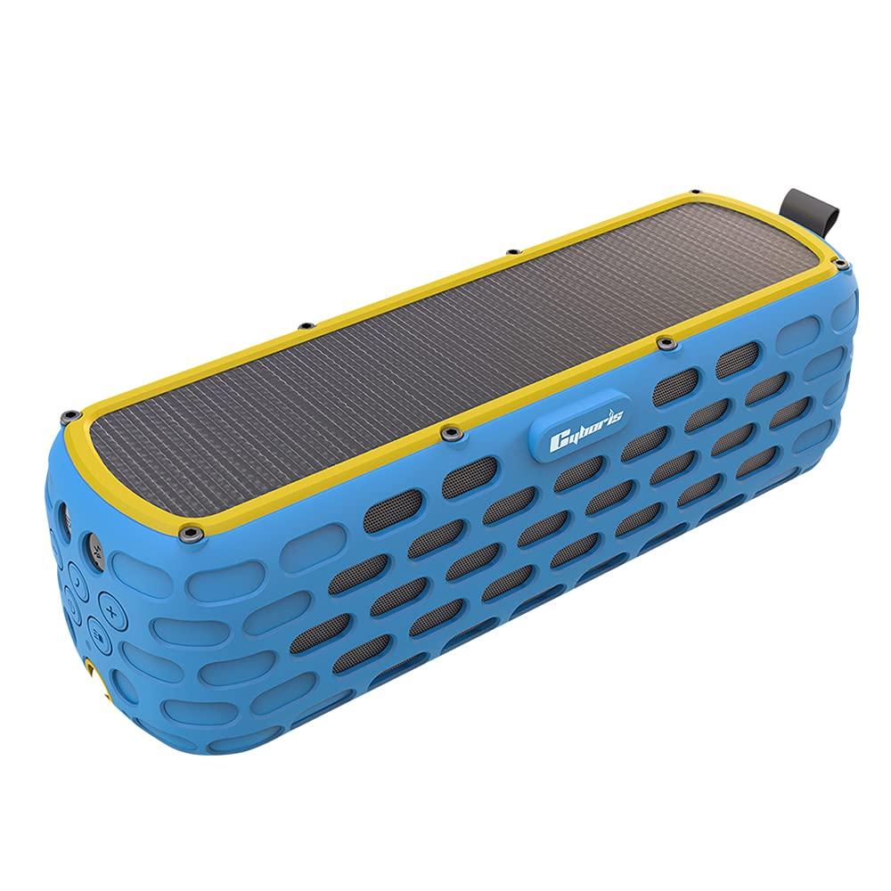 CYBORIS Portable Bluetooth Speaker 20W Solar Powered