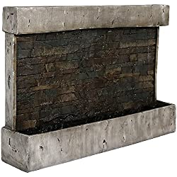 Sunnydaze Ancient Outdoor Wall Waterfall Fountain, 24 Inch Tall