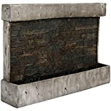 Sunnydaze Ancient Wall Mounted Waterfall Fountain, Outdoor Modern Water Feature, 24 Inch