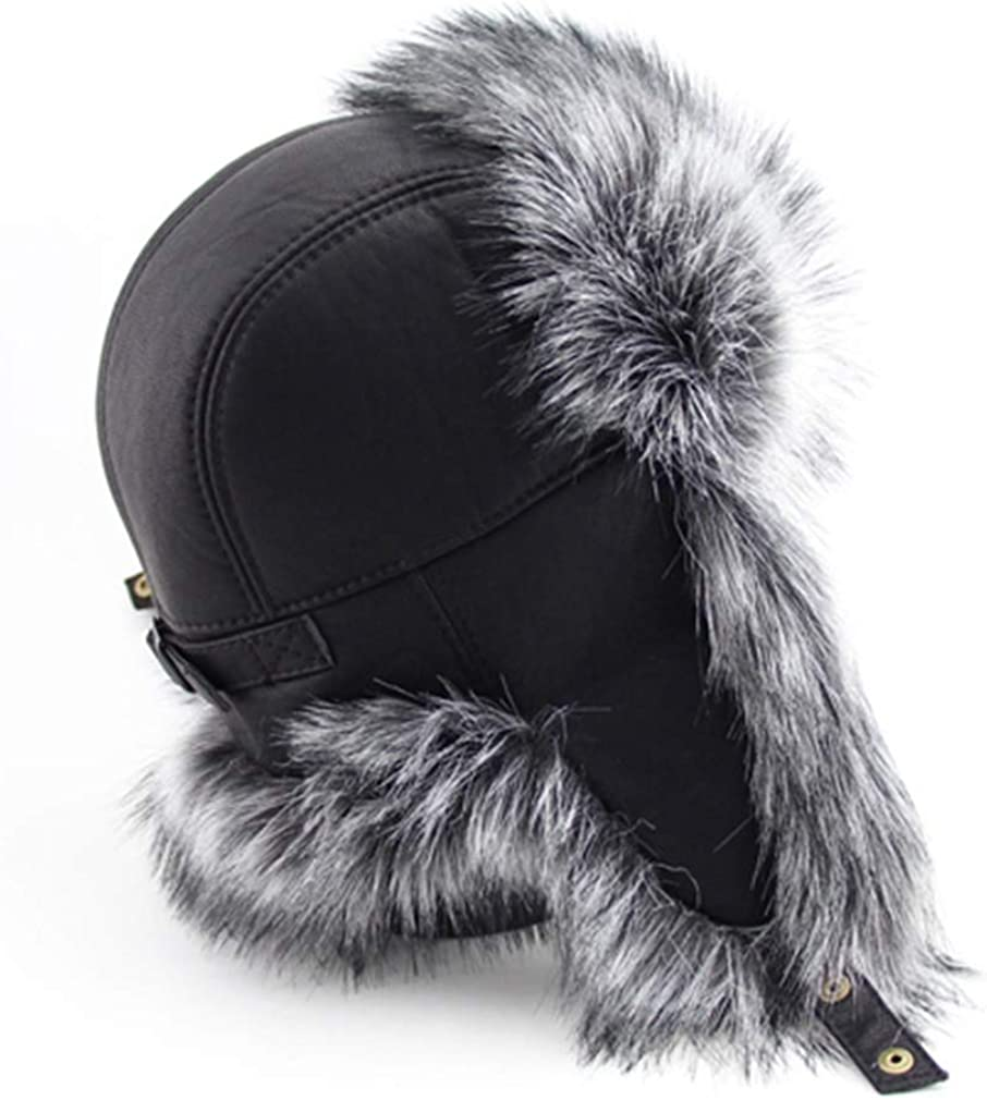 SWEETHA Leather Faux Fur...