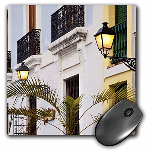 Price comparison product image Colorful buildings in old San Juan, Puerto Rico - CA27 BJN0021 - Mouse Pad, 8 by 8 inches (mp_134867_1)