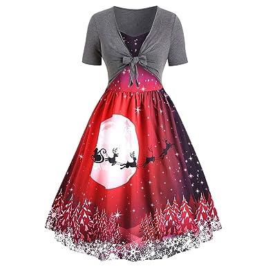 SUCES Vestido de Mujer Rockabilly, Vintage, Retro, Maxi, Falda ...