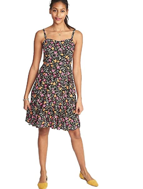 6c847bf9fecb5 Old Navy Fit & Flare Tiered Cami Dress at Amazon Women's Clothing store: