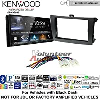 Volunteer Audio Kenwood DDX9704S Double Din Radio Install Kit with Apple Carplay Android Auto Fits 2009-2013 Non Amplified Toyota Corolla