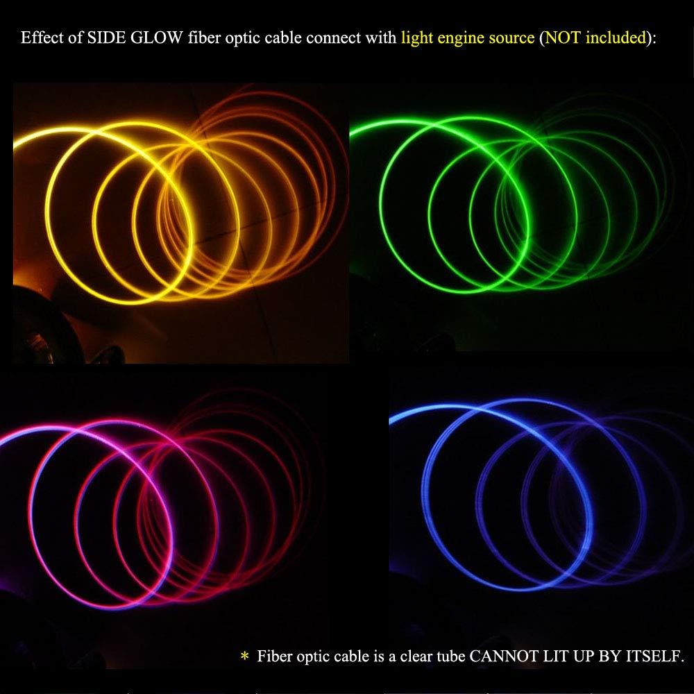 Amazon.com: Cable de fibra óptica de brillo lateral, 0.00 ...