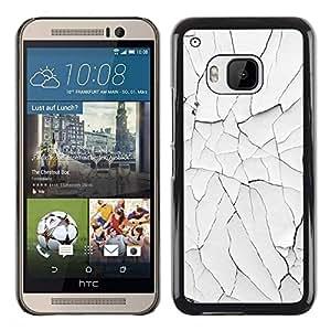 Be Good Phone Accessory // Dura Cáscara cubierta Protectora Caso Carcasa Funda de Protección para HTC One M9 // Desert Cracked White Minimalist