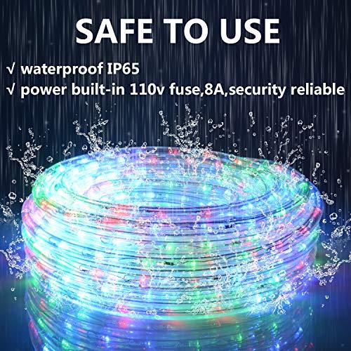 GuoTonG 50ft LED Light Strip kit,Waterproof 6000K Daylight White,110V 2 Wire...
