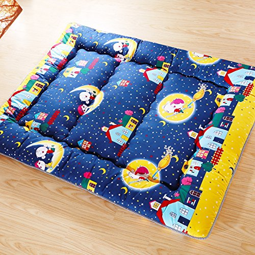 Childhood Dreams Blue Futon Tatami Mat Japanese Futon Mattress Cheap Futons For Sale Christmas Gift Idea Present For Kids, 90cm x 200cm (35.4