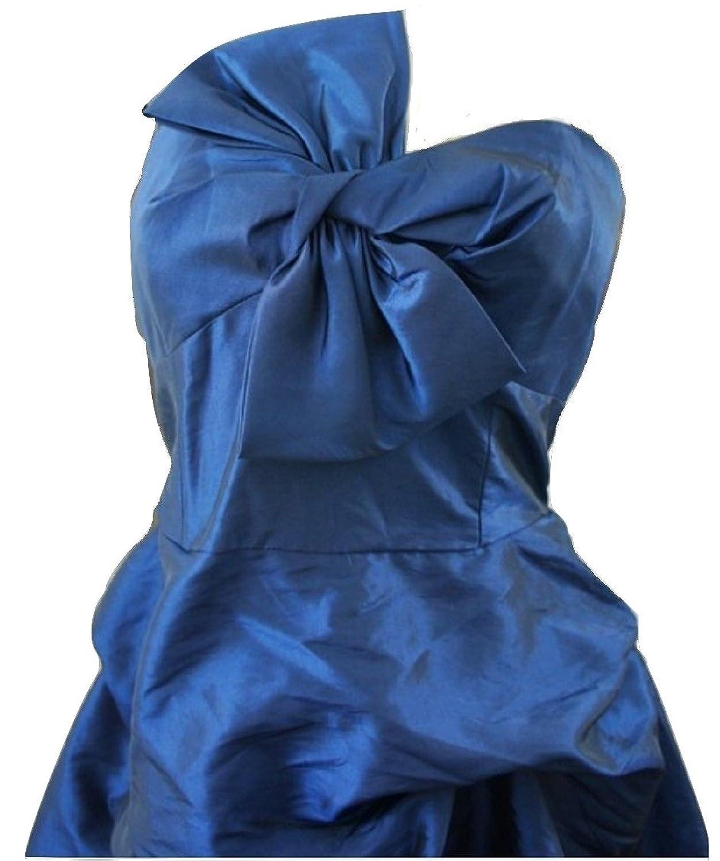 LineaDamen Kleid, Einfarbig Blau Blau