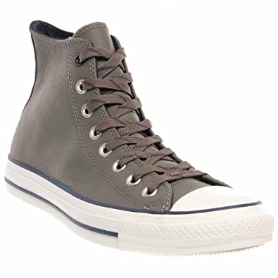 16f8ab7fa1c5 Converse Chuck Taylor Charcoal Grey Leather All Star Hi 141948c Sneaker  (Men s 9.5  Women s