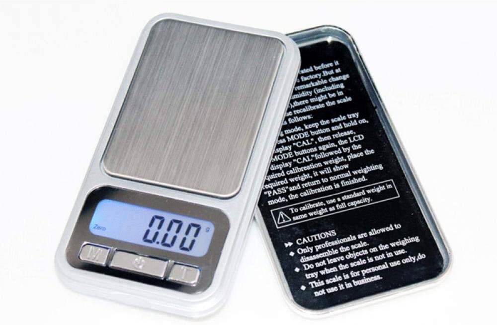 FEE-ZC Bilance digitali da Cucina Multifunzione da Cucina Mini High Net Worth Grammo Bilancia per Apple Bilancia per Alta precisione Banco Portatile Scale-500G/0,01 1kg/0.1g