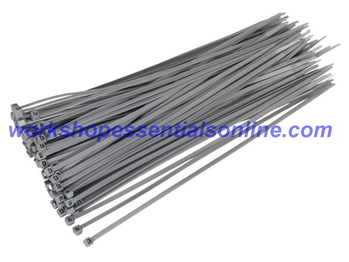 Cable Ties Strong Grey//Silver Ideal for Wheel Trims Various Sizes /& Quantities 370 x 4.8mm Pack of 20