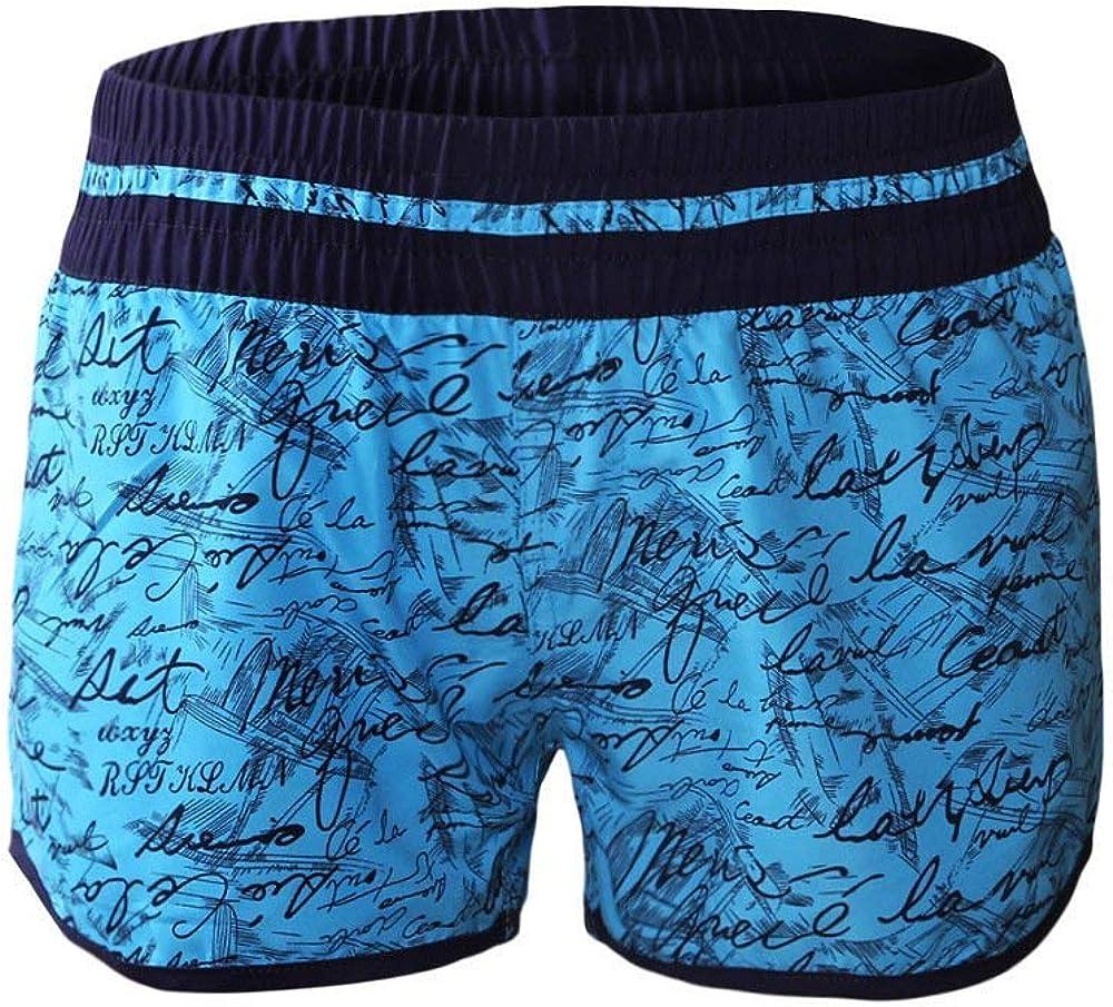 fogohill Handwriting Printed Swimsuit Womens Tankini Bottom Beach Board Shorts