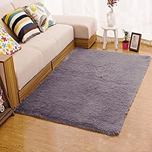 Xhsp super soft 1 8 thick shag living room for Living room rugs amazon