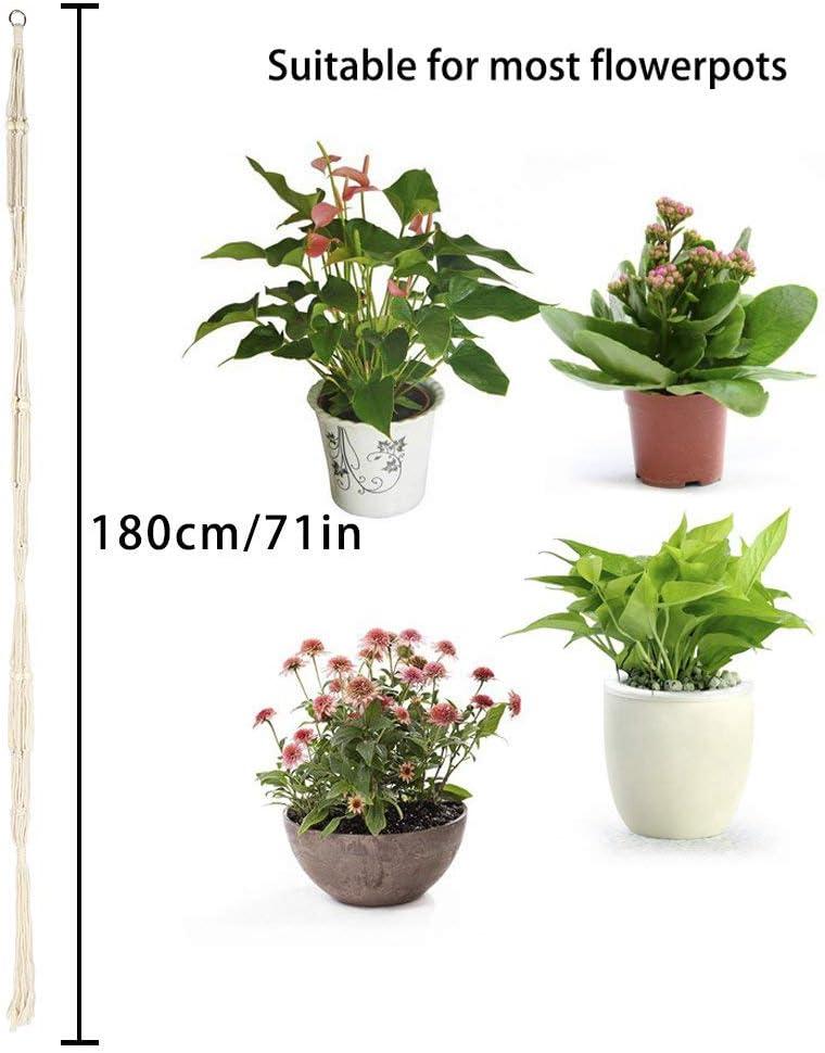 3-st/öckig f/ür den Innen- und Au/ßenbereich Blumenk/örbe LANGING H/änge-Pflanzenhalter klassisch Makramee Dekoration mit 2 Haken