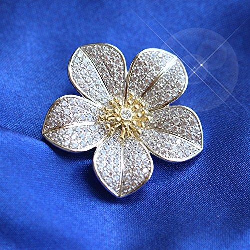 high-end suit jacket sweater small brooch super flash fashion plum fresh temperament zircon brooch pin women girls