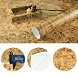 YELLOW Maple Birdseye Wood Grain Vinyl Wrap Sticker Decorative Self-Adhesive Film 30CMx1M