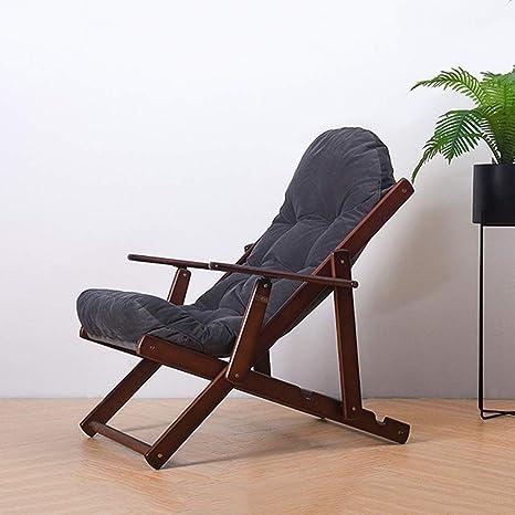 Sillón reclinable de madera maciza Silla Elm Silla para ...