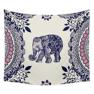 Patgoal Elephant Tapestry Wall Hanging Decor Indian Home Hippie Bohemian Tapestry for Dorms