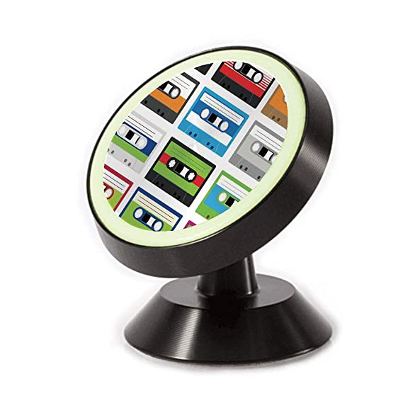 Magnetic Dashboard Cell Phone Car Mount Holder,Audio Cassettes Tapes Old Technology Entertainment,can