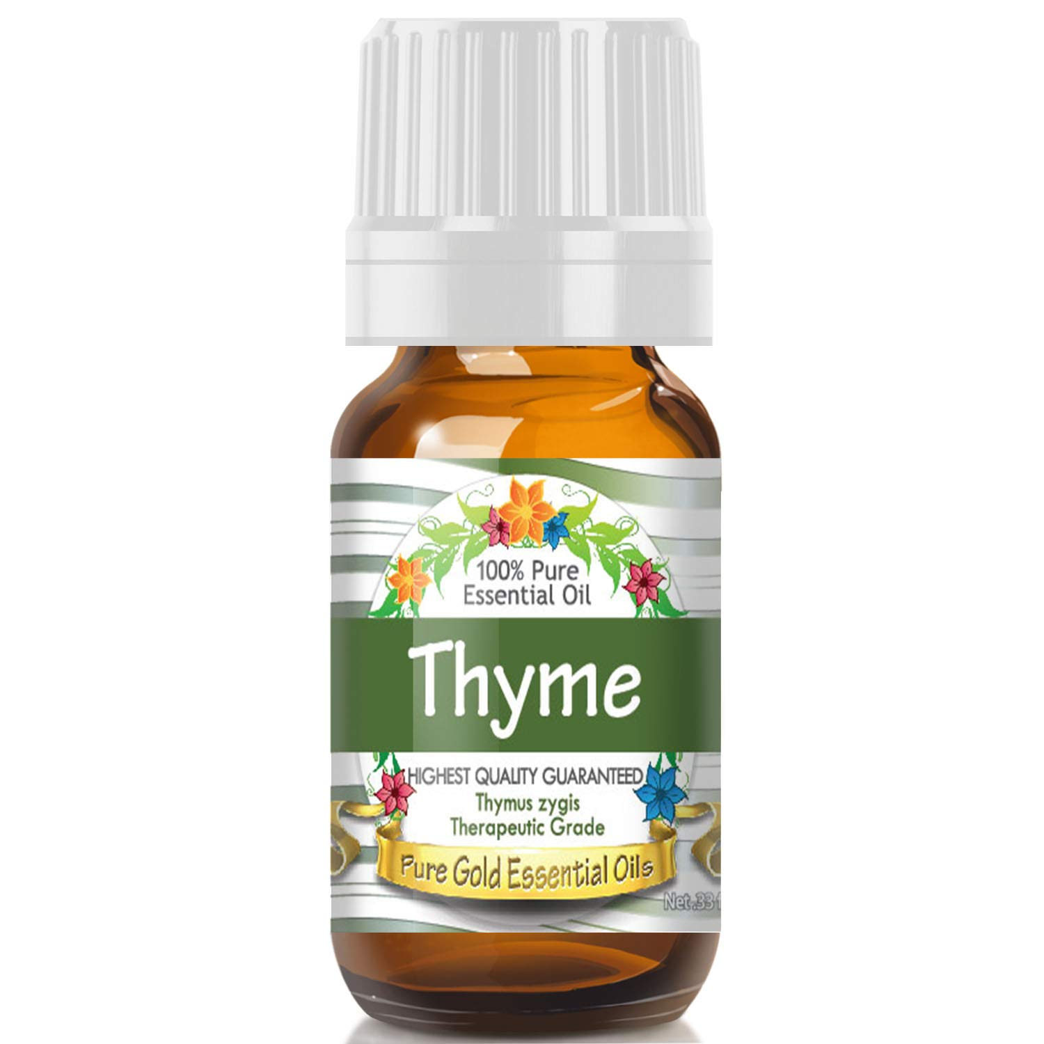 Pure Gold Thyme Essential Oil, 100% Natural & Undiluted, 10ml