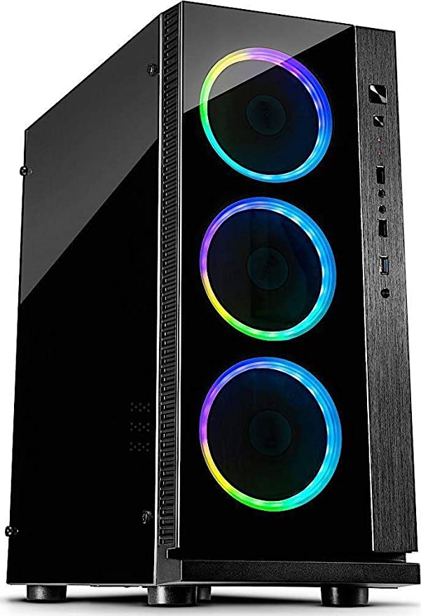 Inter-Tech W-III RGB Torre Negro - Caja de Ordenador (Torre, PC ...