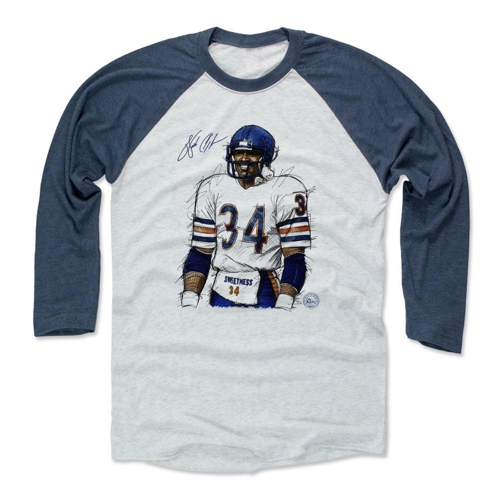 Amazon.com   500 LEVEL Walter Payton Baseball Tee Shirt - Vintage Chicago  Football Raglan Shirt - Walter Payton Smile Chicago   Sports   Outdoors d945df6c9c5c