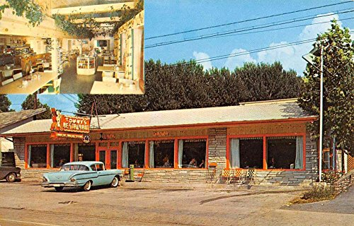 (Gatlinburg Tennessee Tommys Restaurant Multiview Vintage Postcard K84546)