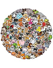 100pcs Cute Animal Stickers for Kids Toddlers, Cartoon Animal Stickers Decals for Water Bottle Laptop Skateboard Scrapbook, Waterproof Vinyl Stickers Pack