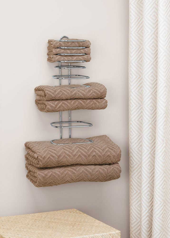 Taymor 01-1064 Hotel Chrome Four Guest Towel Holders