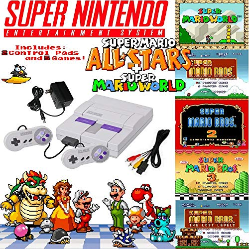 Super NES Mario Set with 5-Game Cartridge (Certified Refurbished)
