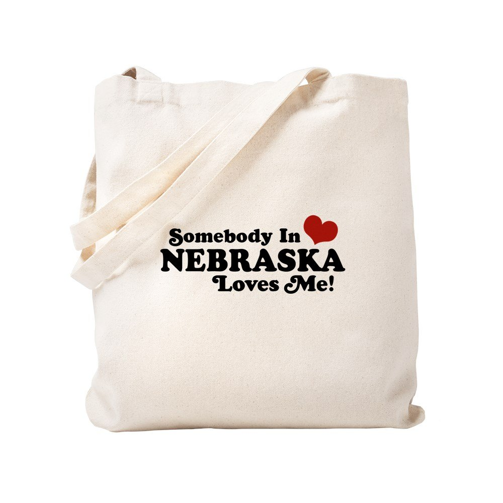 CafePress – ネブラスカ州のSomebody Loves Me Tote Bag – ナチュラルキャンバストートバッグ、布ショッピングバッグ S ベージュ 0296956381DECC2 B0773QBX58 S