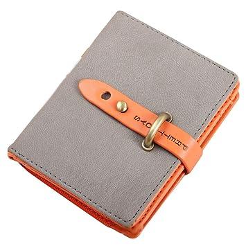Amazon.com   Nsstar Elegant Card Cash Holder Lady Purse Woman Wallet Bag  Billfold Credit Card Holder Case with a Strap Closure (Gray)   Beauty f1250443b12d
