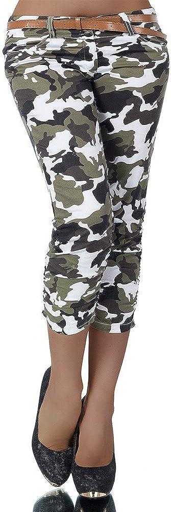 Diva-Jeans - Pantalón - Capri - Efecto teñido - para Mujer