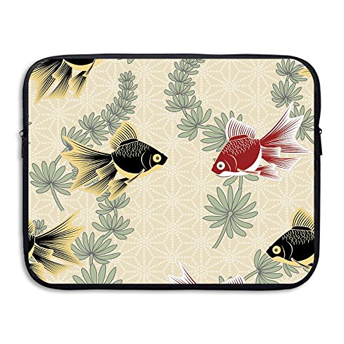 Business Briefcase Sleeve Goldfish Painting Laptop Sleeve Case Cover Handbag For 13 Inch Macbook Pro Air Lenovo Samsung