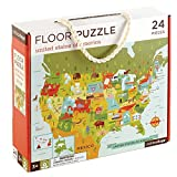 Petit Collage Floor Puzzle, USA, 24 pieces