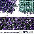 "Windscreen4less 20"" x 20"" Artificial Purple Lavender & Milan Leaves"