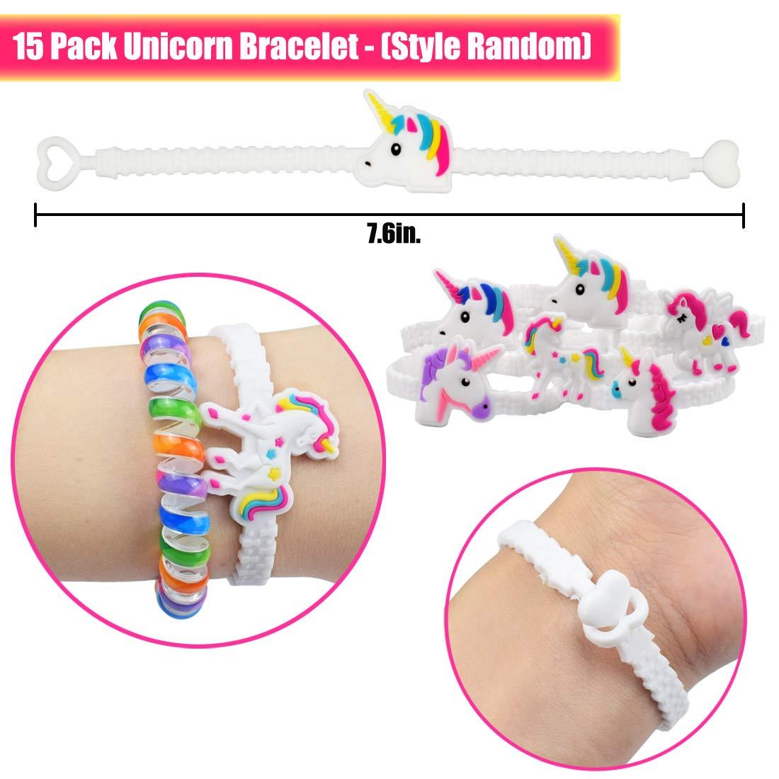 Carnival Prize Rainbow Unicorn Kids Birthday Party Favors Goodie Bag Fillers for 5 Girl Unicorn Headband Danirora Unicorn Party Supplies, 55 Pack