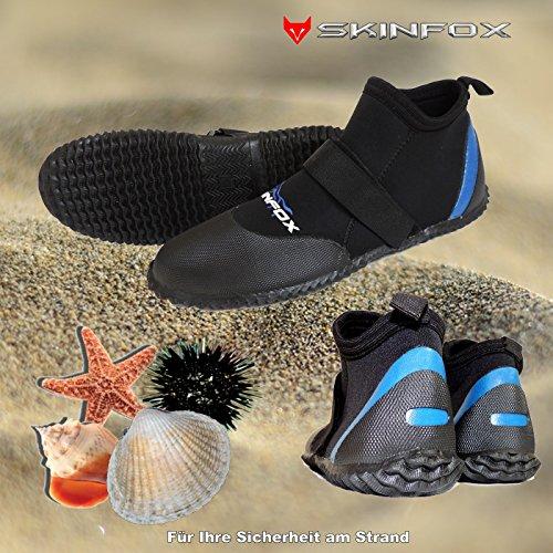 0 mm Neopren 3 Igel See Gr Wassersportschuhe 51 Beachrunner sicher 34 Badeschuhe SKINFOX blau TwqZSZ