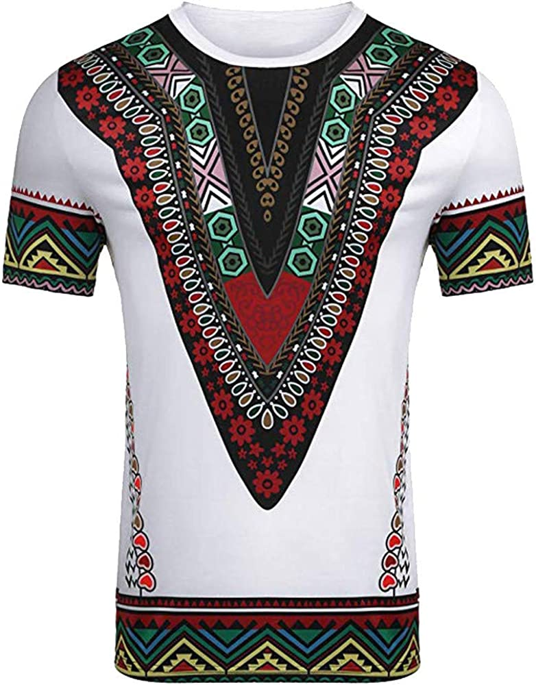 Overdose Moda Masculina Impresa Africana Camiseta Manga Corta Camisa Informal Top Blusa étnico Camisas De Hombre Vintage Divertidas Fiesta Estampados: Amazon.es: Ropa y accesorios