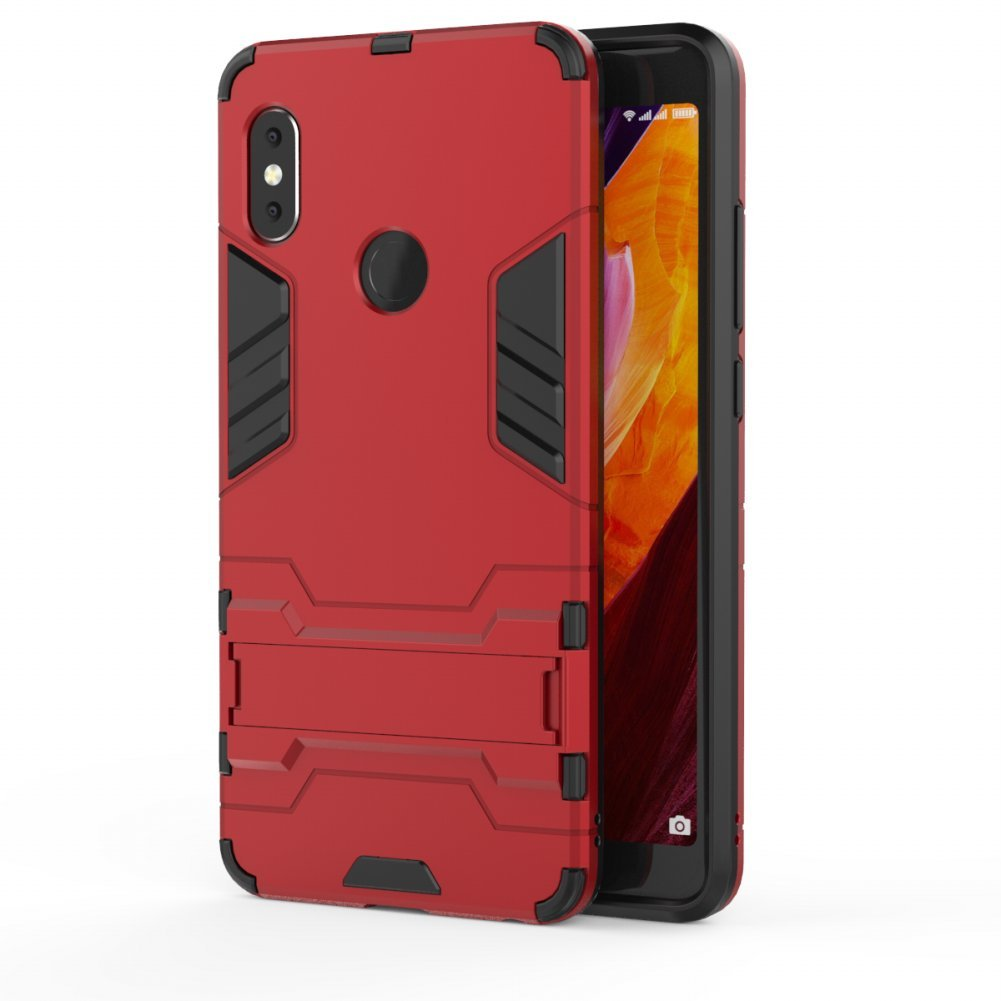 Redmi Note 5 Pro Heavy Duty Case DWaybox 2 in 1 Hybrid Armor Hard Back Case Cover with Kickstand for Xiaomi Redmi Note 5 Pro/Redmi Note 5 5.99 Inch ...