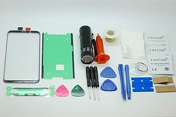 Kit de reparación de Pantalla de Cristal Frontal para Samsung Galaxy Note 9 con Pegamento Loca UV: Amazon.es: Electrónica