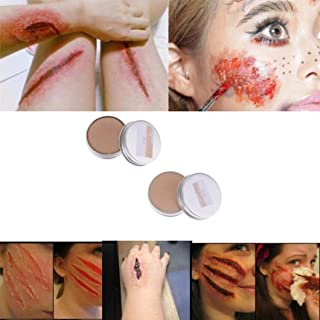 Ecosin Make Up Wax Halloween Fancy Dress Fake Scar Wound Skin Wax Body Face Painting (A)