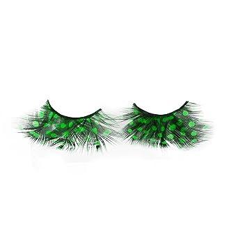 24f3c4f396c Amazon.com : EOWEO Women Fancy Soft Long Feather False Eyelashes Eye Lashes  Makeup Party Club GN : Beauty