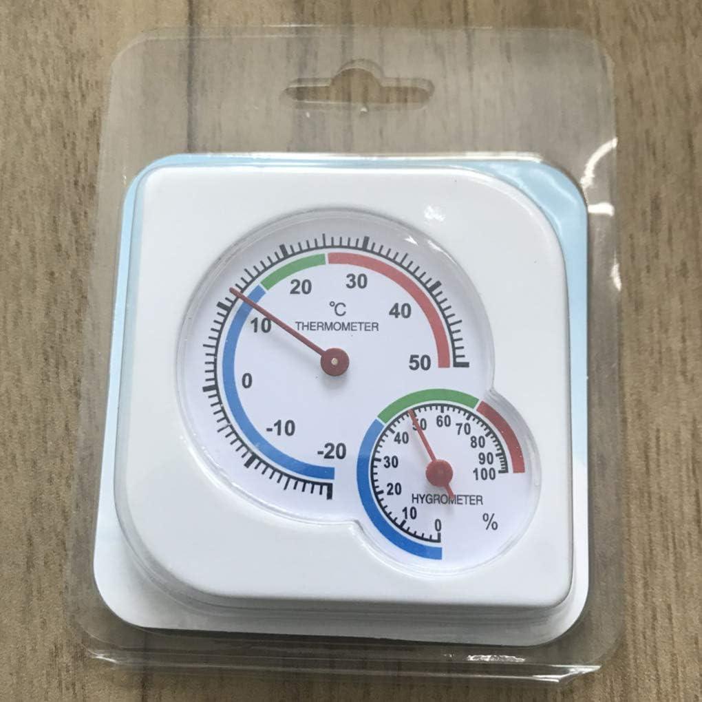 Zerama Debout /à lint/érieur Hanging thermom/ètre hygrom/ètre Temp/érature Humidit/é Testeur Plastique Cadran analogique