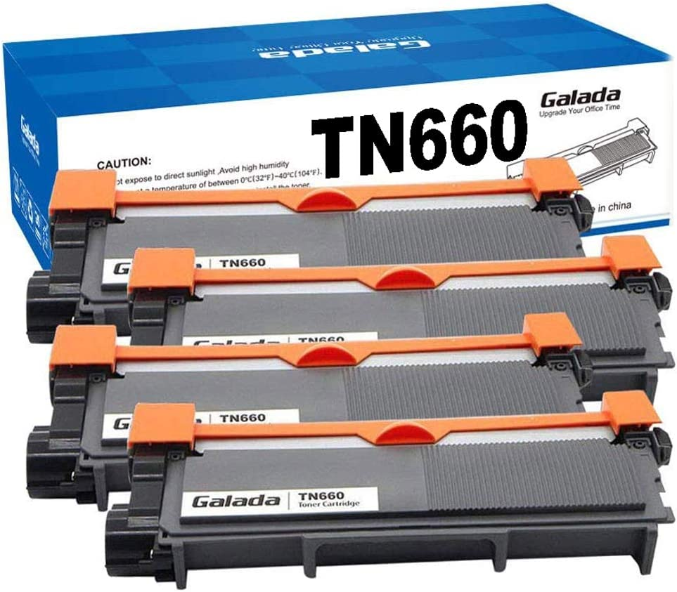 Galada Compatible Toner Cartridge Replacement for Brother TN630 TN660 TN-630 TN-660 for Dcp-l2520dw Dcp-l2540dw Mfc-l2700dw Mfc-l2720dw Mfc-l2740dw Hl-l2340dw Hl-l2320d Hl-l2360dw Hl-l2380dw 4 Pack