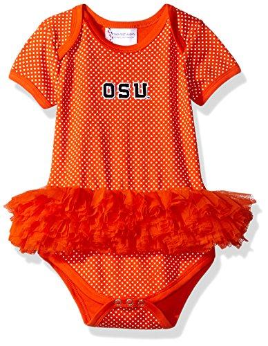 Ncaa Pins (NCAA Oregon State Beavers Children Girls Pin Dot Tutu Creeper,18 mo,Orange)