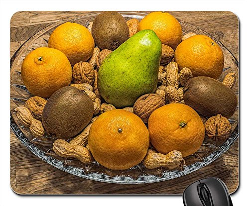 Mouse Pads - Fruit Bowl Nuts Fruit Fruits Healthy (Mandarin Walnut)