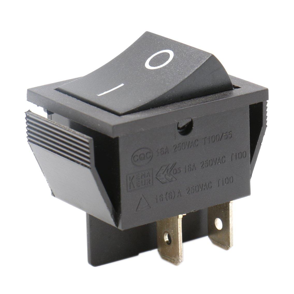 Heschen Interrupteur à bascule ON/OFF Dpst On-Off 4bornes 16A 250VAC Noir Lot de 2 Ningbo Master Soken Electrical Co.Ltd RK1-01-HS