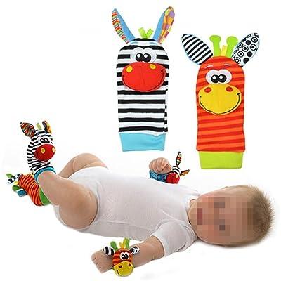 1 par de Calcetines de bebé parte Calcetines/sonajero Calcetines, divertida de peluche, diseño de animales: Bebé
